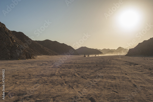 Foto op Aluminium Egypte Quad bike safari through rocky desert