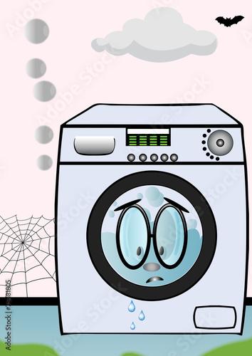 machine laver le linge qui fuit fichier vectoriel libre de droits sur la banque d 39 images. Black Bedroom Furniture Sets. Home Design Ideas