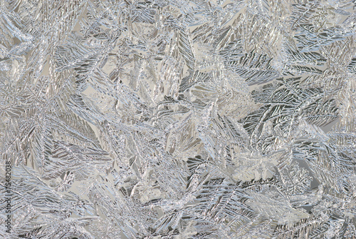 Abstract ice texture on the window