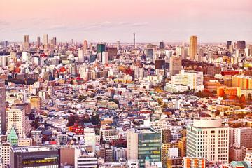 東京の広尾の夕景