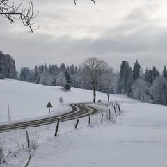 la route enneigée
