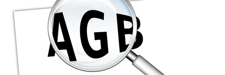 lb4 LupenBanner - Lupe und Text AGB auf Papier - 3zu1 - g2923