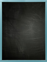 Blackboard with blue frame