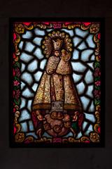 Cristalera de Virgen con niño Jesús