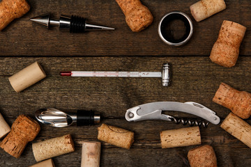 Different tools for wine