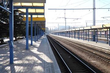 ж/д вокзал г. Симферополя после отмены поездов Украиной