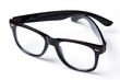 Leinwanddruck Bild - Eyeglasses with black rim