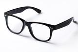 Eyeglasses with black rim