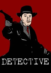 Detective with gun