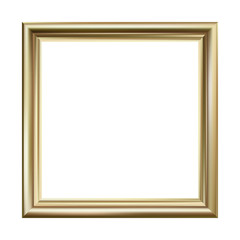 Gold picture frame, square, vector illustration