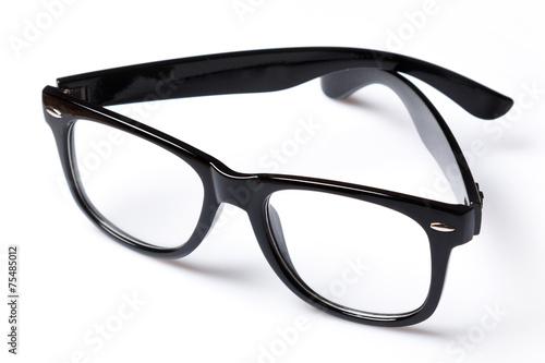 Eyeglasses with black rim