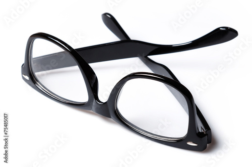Leinwanddruck Bild Eyeglasses with black rim