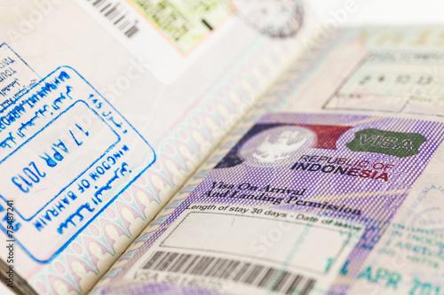 Foto op Plexiglas Indonesië Indonesia Visa