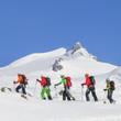 Bergführer mit Seilschaft