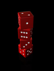 Stacked Red Dice