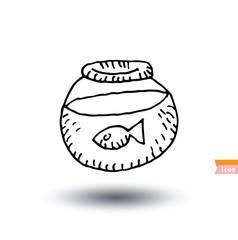 Fish icon, vector illustration.