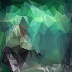 triangular design in emerald colors - green