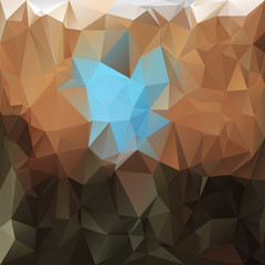 triangular design in earthy colors - brown, beige and blue