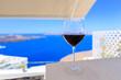glass of wine Santorini