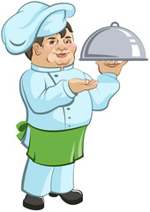 Thick chef cook is a dish