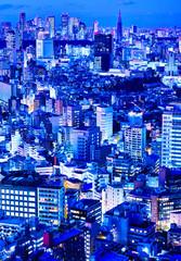 東京の新宿副都心の夜景