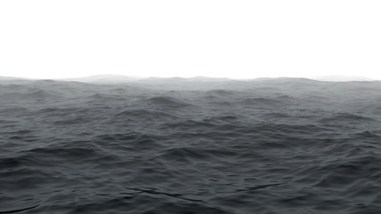 Ocean with fog