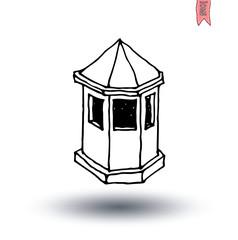 kiosk House icon, vector illustration.