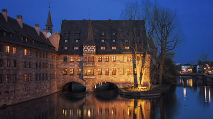 Famous touristic city Nuremberg, Germany