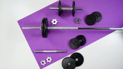 Weight Set on Mat