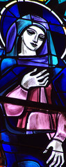 Mary in stained glass
