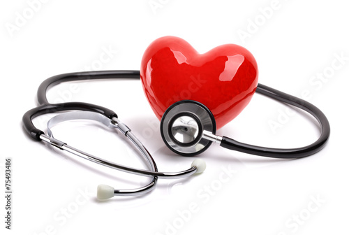 Stethoscope and heart - 75493486