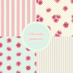 Set of vintage seamless patterns