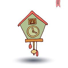 clock icon, watche, Hand drawn vector illustration.
