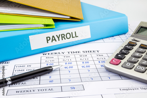 Leinwanddruck Bild Calculate payroll for employee