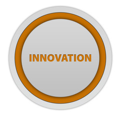 Innovation circular icon on white background