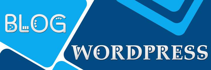 Wordpress Blog Two Blue Color Squares Banner
