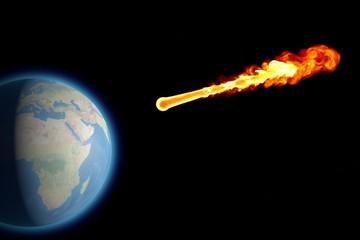 Mondo terra globo impatto esplosione meteorite asteroide