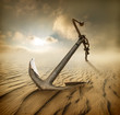 Anchor in desert - 75496864
