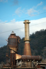 Industrial chimney filtered