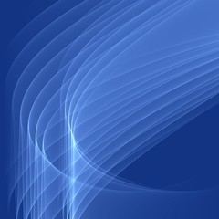 Abstract blue background with smooth bright lines.
