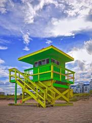 Summer scene in Miami Beach Florida