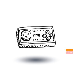 Video game controller icon isolated, vector illustration.