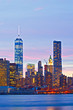 Obrazy na płótnie, fototapety, zdjęcia, fotoobrazy drukowane : New York City, USA  buildings in Manhattan  at sunset