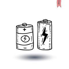 battery icon - vector illustration