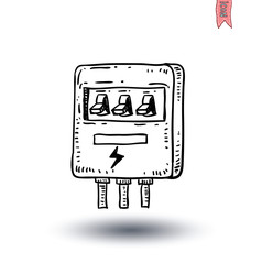 Switch main power  Electricity icon - vector illustration