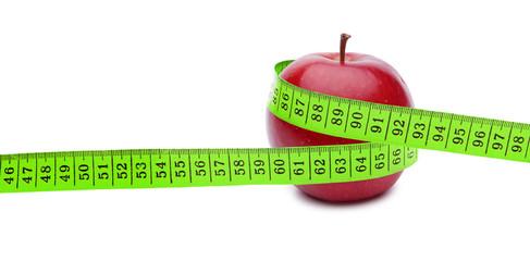Apfel mit Maßband