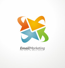 Email marketing creative design concept