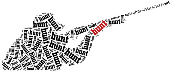 Hunting concept. Word cloud illustration.