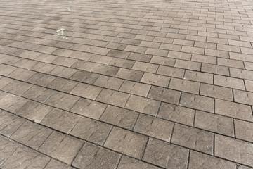 Concrete brick on floor
