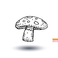 Food icon mushroom, vector illustration.